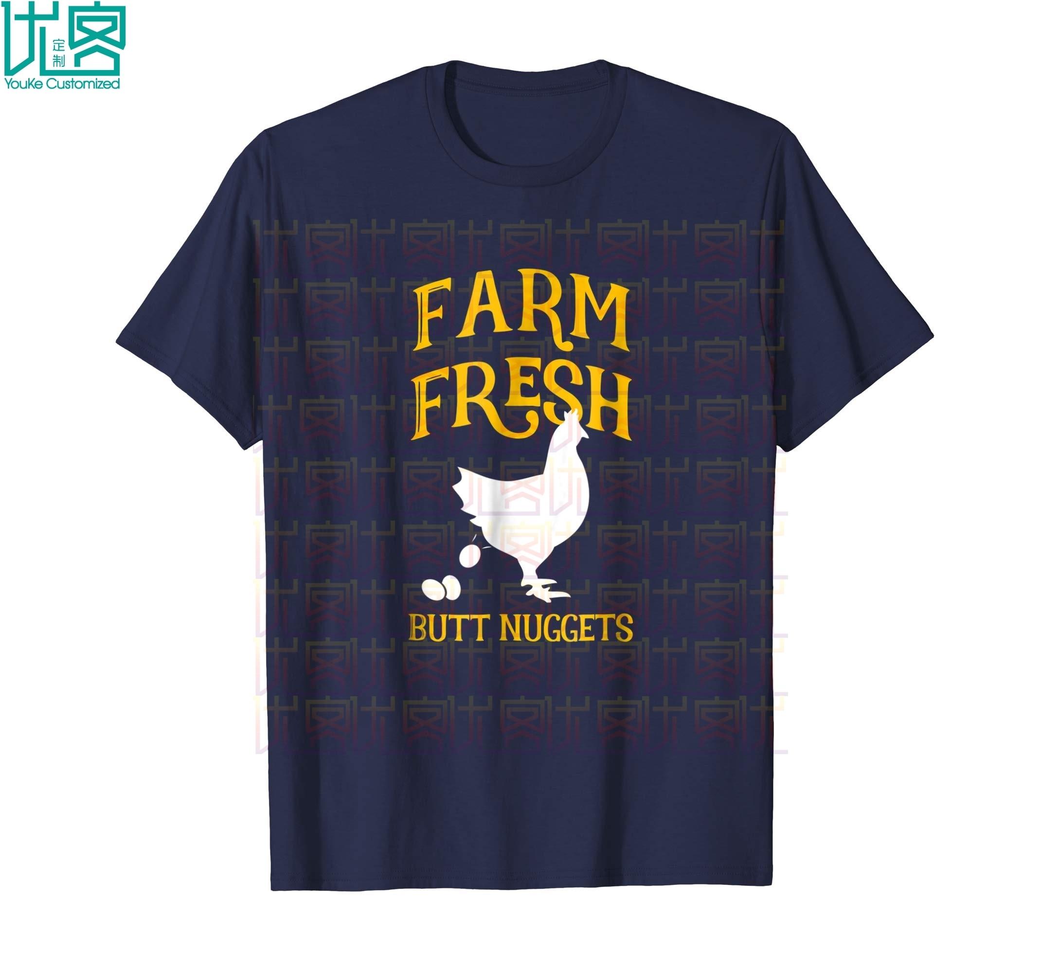 Bauernhof Frische Butt Nuggets Nette Huhn Butt T Hemd Erstaunliche Kurzarm Einzigartige Casual Tees 100% Baumwolle Kleidung T Shirt