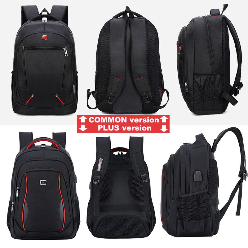 Vodootporni čvrsti veliki ruksak za muškarce torbe za laptop crni - Ruksaci - Foto 2