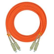 10 mètres SC/PC-SC/PC, diamètre 3.0mm, OM2 Multimode 50/125, Duplex, câble de cordon de raccordement à Fiber optique SC à SC,