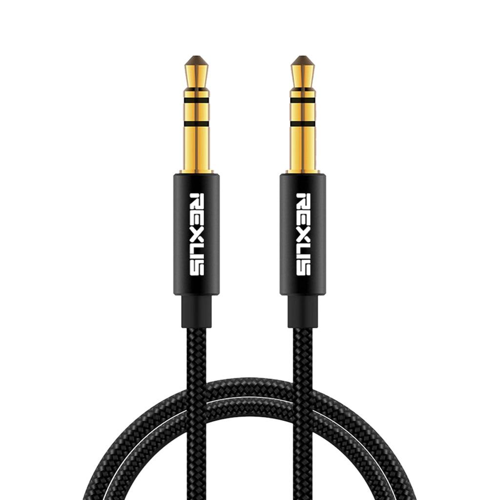 REXLIS-Cable de Audio Jack 3,5, Cable auxiliar de 3,5mm para altavoces de...