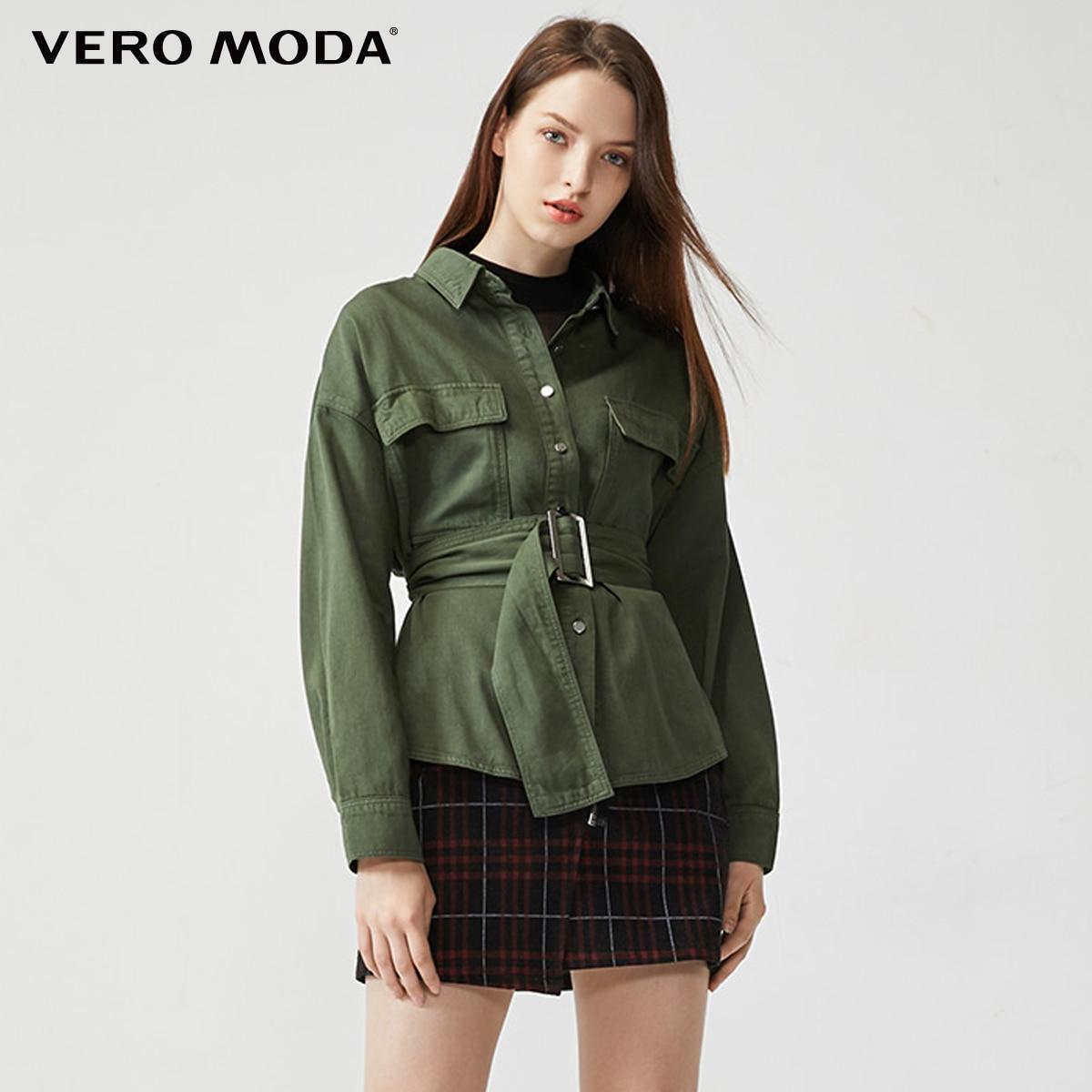 Vero Moda Women's Loose Fit Waist Army Style Shirt Jacket   319362501