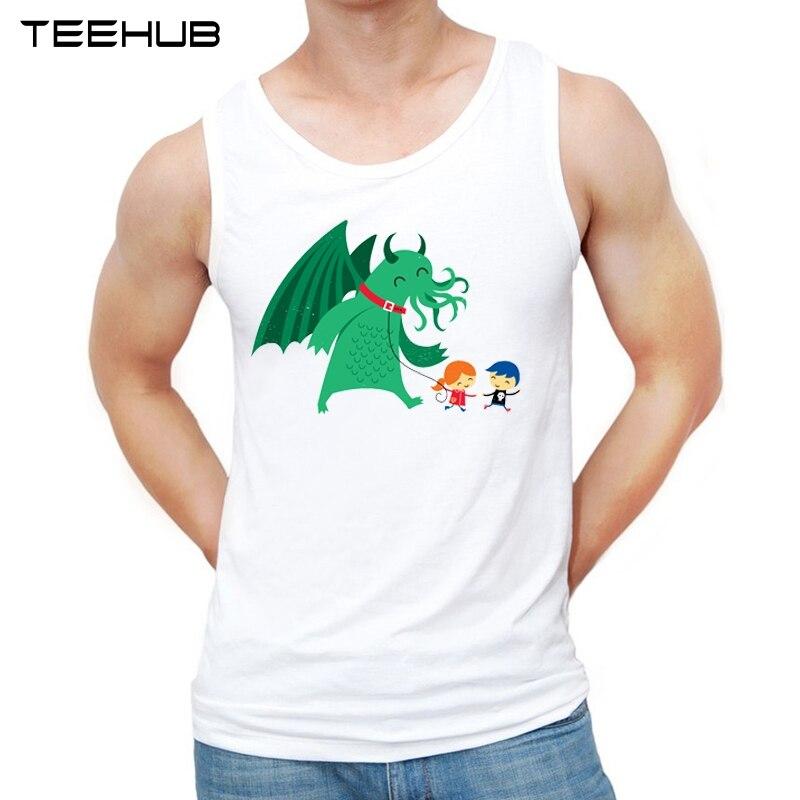 Teehub 2019 Мода My Lil' Cthulhu дизайн мужские майки смешной o-образным вырезом Повседневный жилет без рукавов Мужская футболка