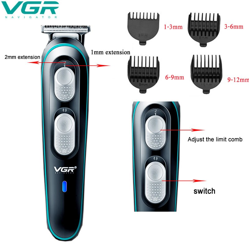 Professional Hair Trimmer Electric 0.1 mm Detail Hair Cutting Fast Charging Car Hair Clipper Barber Dedicated Men Trimmer R-55 enlarge