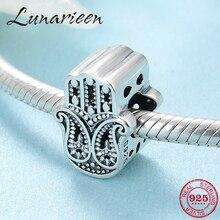 Ajuste original pandora encantos pulseira autêntico 925 prata esterlina haza sorte contas de mão para mulher fanshion jóias fazendo