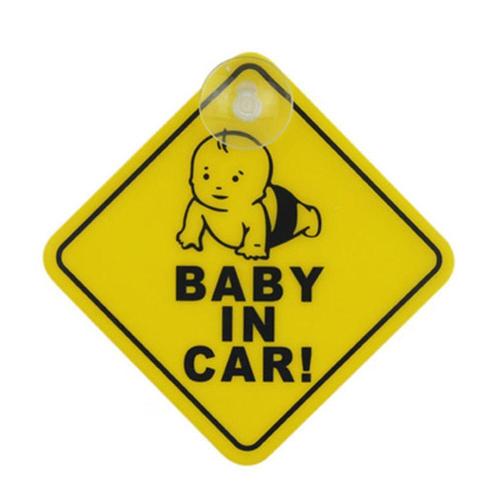 100 piezas pegatina de succión de coche bebé a bordo señal de seguridad pegatina de vinilo para coche pegatina de ventana de vehículo
