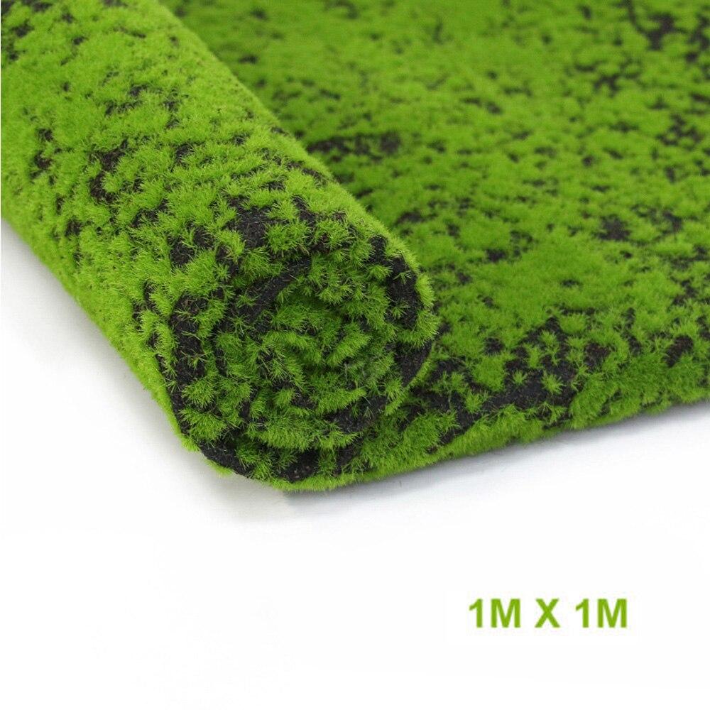 Césped Artificial musgo falso Micro paisaje decoración del hogar hierba 100*100cm alfombra Real toque plantas artificiales decoración del hogar