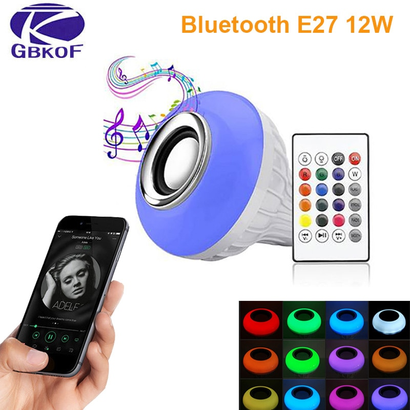 Bluetooth Bulb ampoule led lamp E27 E14 GU10 RGB night Light Bulb with remote control for home spotl