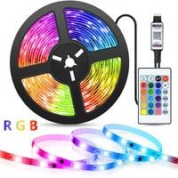 USB Светодиодные ленты светильник Bluetooth ТВ Подсветка светильник полоски светильник s цветная (RGB) 2835 Цвет DC5V с ИК-пультом дистанционного Цвет и...