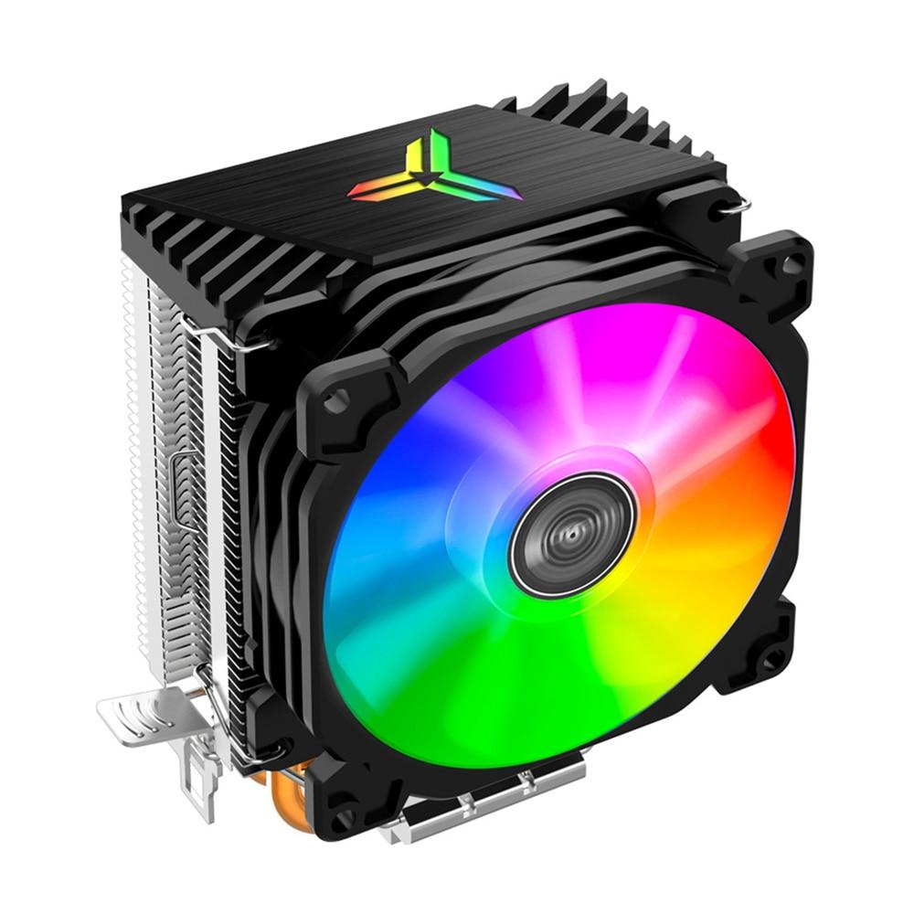 CPU برودة السيارات ضوء ملون الكمبيوتر متعدد منصة CPU المبرد ل إنتل 775/1150/1151/1155/1156 AMD AM4/AM3 +/FM2 + 9 سنتيمتر مروحة