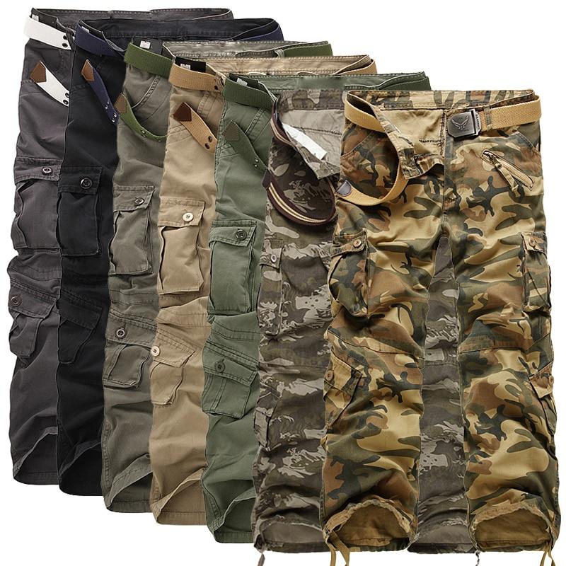 Мужские брюки-карго, камуфляжные брюки в стиле милитари, 7 цветов, 2021