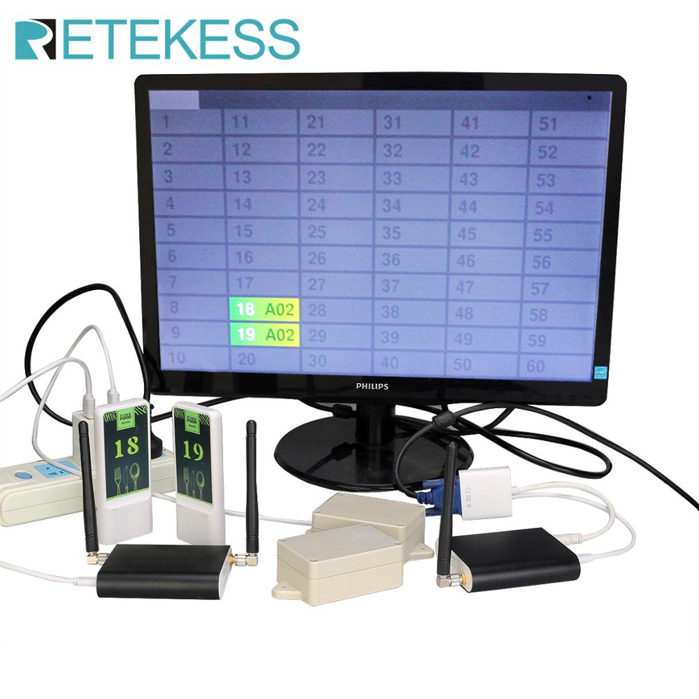 RETEKESS Restaurant Pager Restaurant Positioning Delivery System Food Tracker Table Tracker waiter Delivery Food For Restaurant