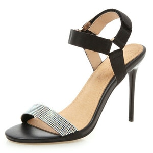 2021 New Thin High Heel Women Sandals Fashion Superfine Fiber Pointed Open-toed Slingback Sexy Ladies Shoes Size 34-43