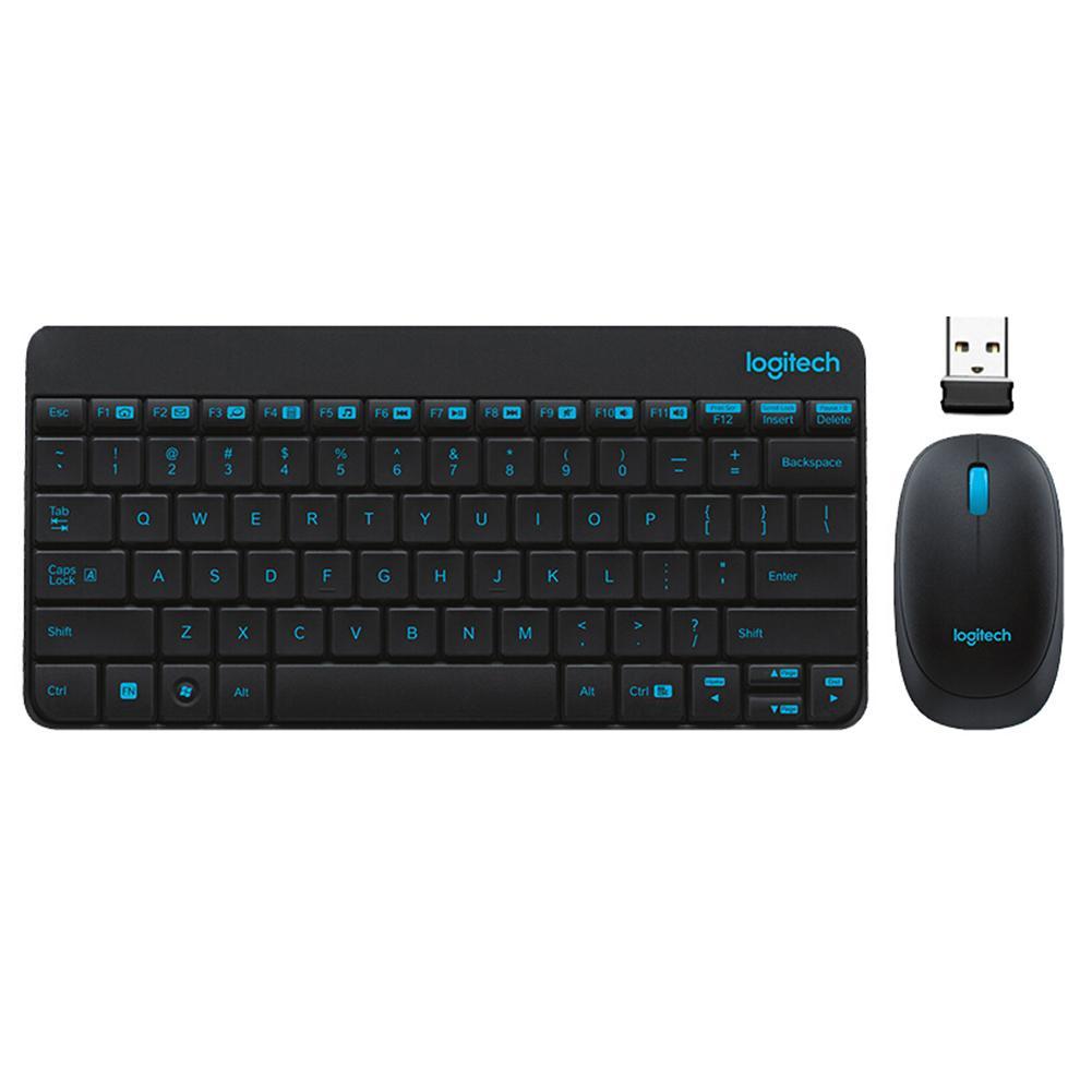 لوجيتك MK245 نانو لوحة مفاتيح وماوس الألعاب كمبيوتر محمول كلافيير ألعاب الأصلي مقاوم للماء بيئة العمل لوحات المفاتيح الماوس مجموعة