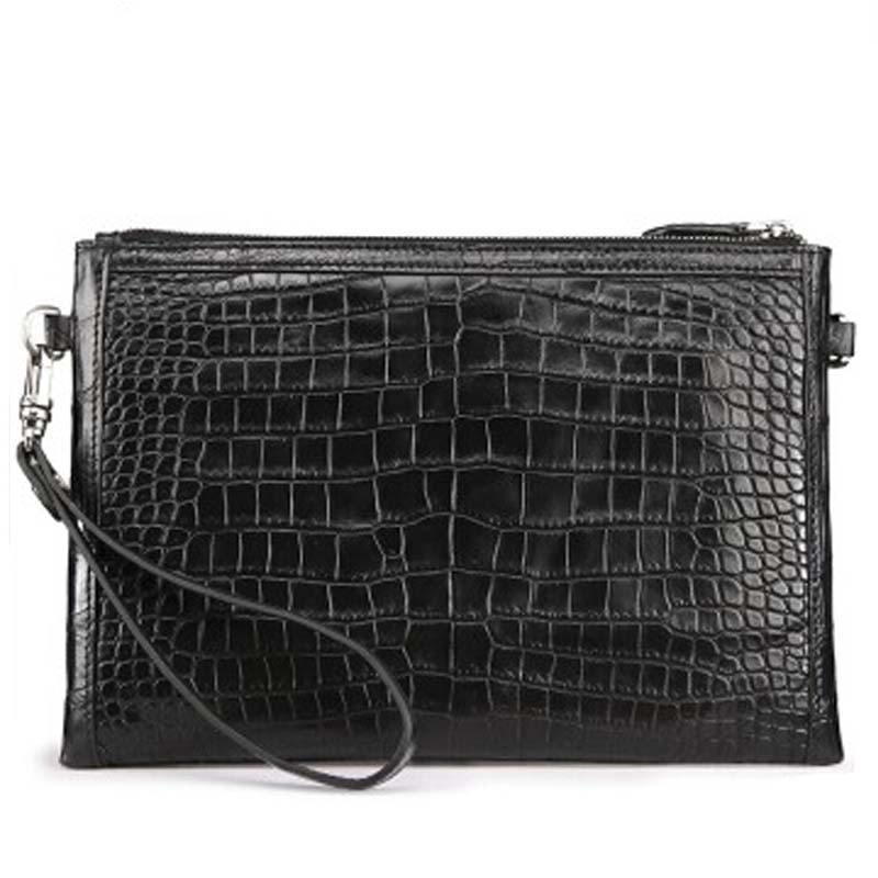 fasiqi new crocodile leather envelope bag man briefcase men handbag of a business hand bag and a fashion man clutch bag