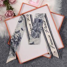 1PC Silk Thin Long Bag Accessories Scarf Popular Comfortable Gift SoftWrist Towel Foulard Neckerchie