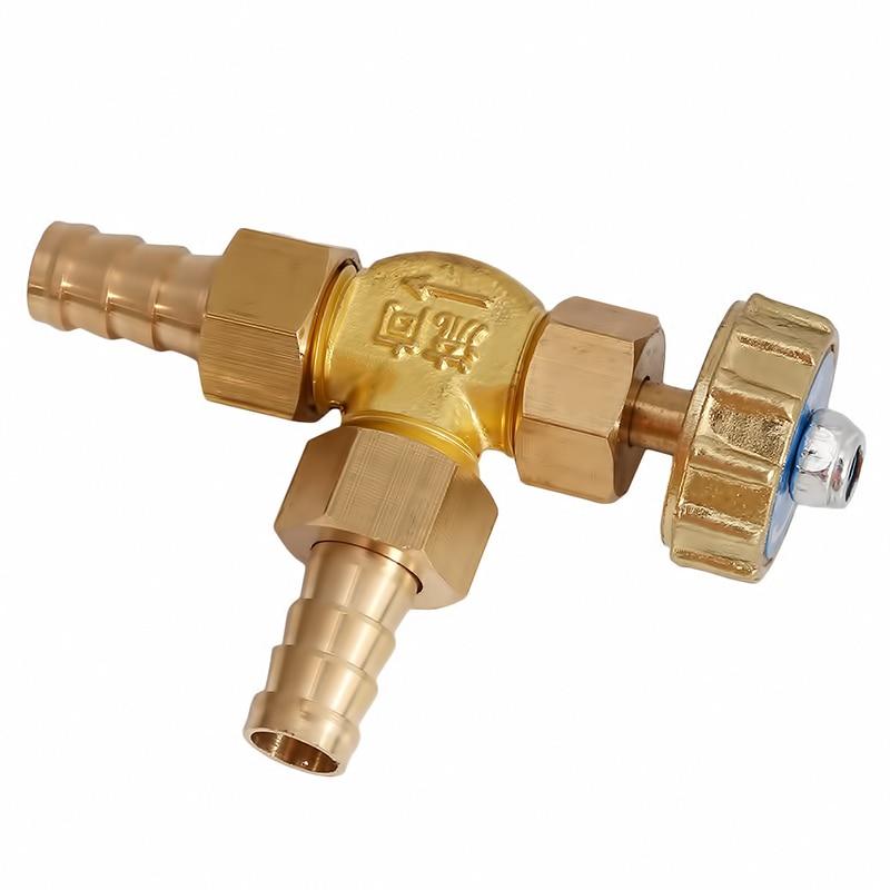 8mm/10mm id mangueira ângulo direito válvula de agulha de bronze para gás pressão máxima 1 mpa