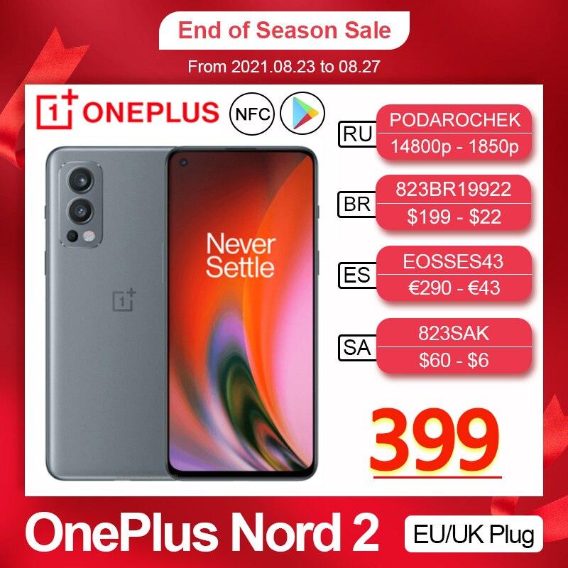 2021 Global Version OnePlus Nord 2 5G Smartphone MediaTek Dimensity 1200-AI 50MP AI Camera Warp Charge 65 Nord2 Mobile Phone