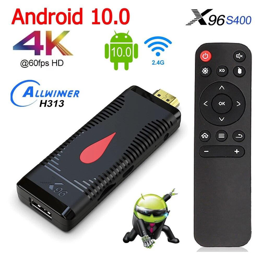 X96 S400 Mini Pc Tv Stick Android 10 Tv Box 2.4G Wifi 2Gb 16Gb Allwinner H313 Smart tv Box 4K Hd Media Player Set Top