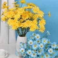 Simulation de petites fleurs de marguerite  fausses fleurs pour decoration de mariage  maison  hotel  salon  bureau  fete de vacances