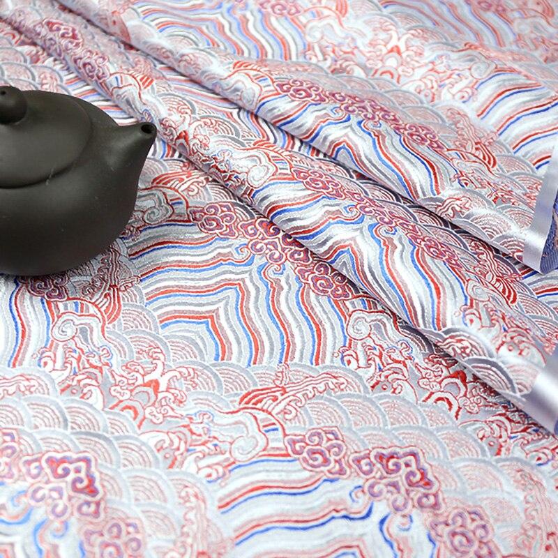 Vestido jacquard feminino de tecido de cetim, estilo japonês, tecido de seda falsa, para costura, kimono ja38