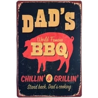 dads bbq after dads cooking metal plate retro man cave tin sign vintage wall bar shop decor 12x8 inch