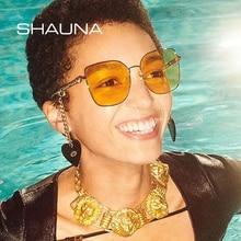 SHAUNA Unique Chain Sunglasses Women Brand Designer Fashion Square Anti-Blue Light Eyeglasses Frames