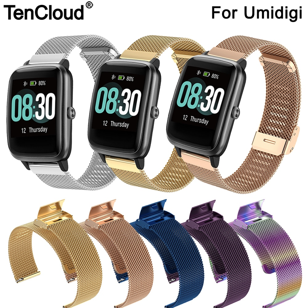 Replacement Milan Band For Umidigi Ufit Smart Watch Strap For Umidigi Uwatch 3 GPS/GT Stainless Steel Wristband Adjust Bracelet