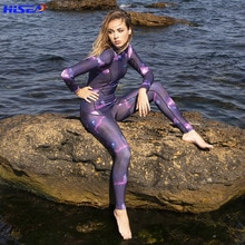 Hisea nouvelles femmes 3mm élastique néoprène combinaison maillot de bain équipement plongée sous-marine natation surf sous-marine costume Triathlon combinaison