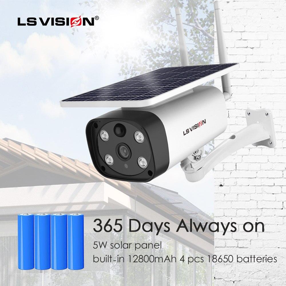 جديد 2MP الشمسية اللاسلكية بطارية واي فاي الأمن في الهواء الطلق كاميرا IP IP66 مقاوم للماء PIR كشف الحركة المنزل الذكي CCTV المراقبة