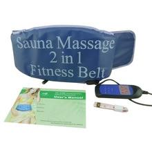 2 In 1 Gym Fitness Waist Belt Slimming Fat Burner Sauna Heating Vibrate Massager Belts Abdominal Fat Burner Abdominales Fitness