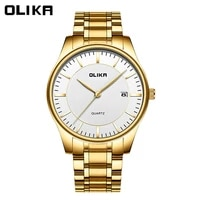 special mens watch solid steel band waterproof fashion business simple mens watch