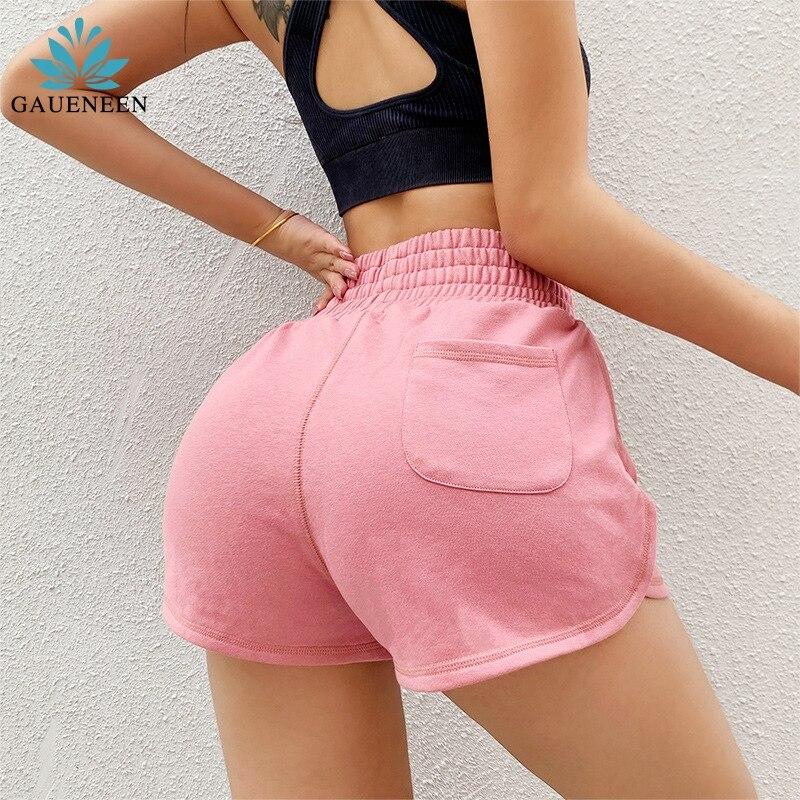 Women Gym Shorts Women High Waist Lifting Push Up Tight Sports Leggings Phone Pocket Jogging Running Fitness Yoga Shorts Pant
