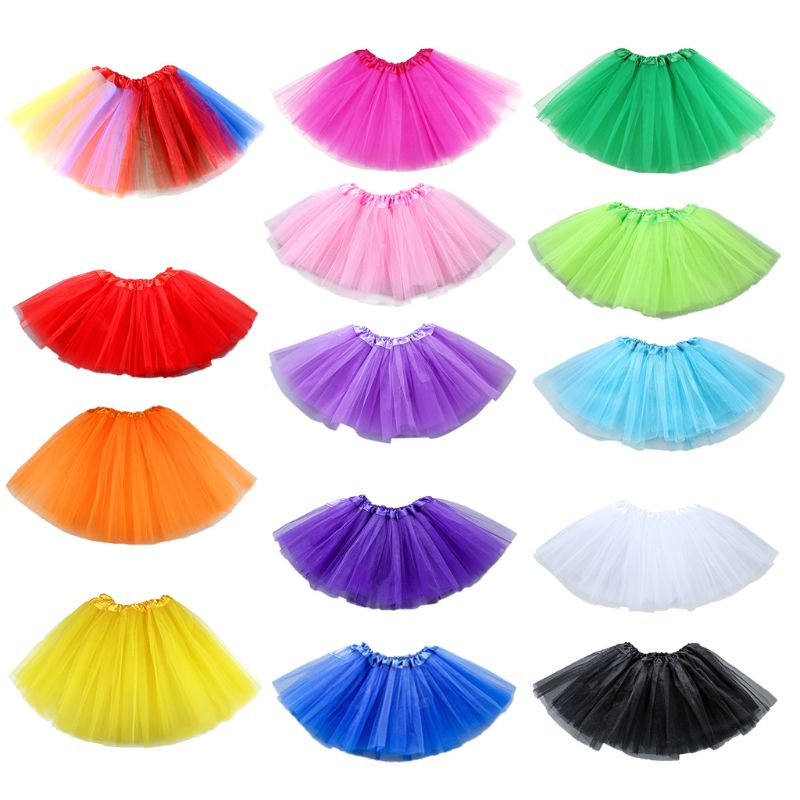 14 Colors Women Tutu Skirt Layered Organza Lace Mini Skirts High Waist Ballet Tulle Skirt Party Stag