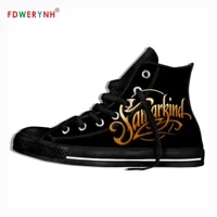 mens casual shoes canvas casual shoes symphony x band most influential metal bands of all time customize pattern color shoes