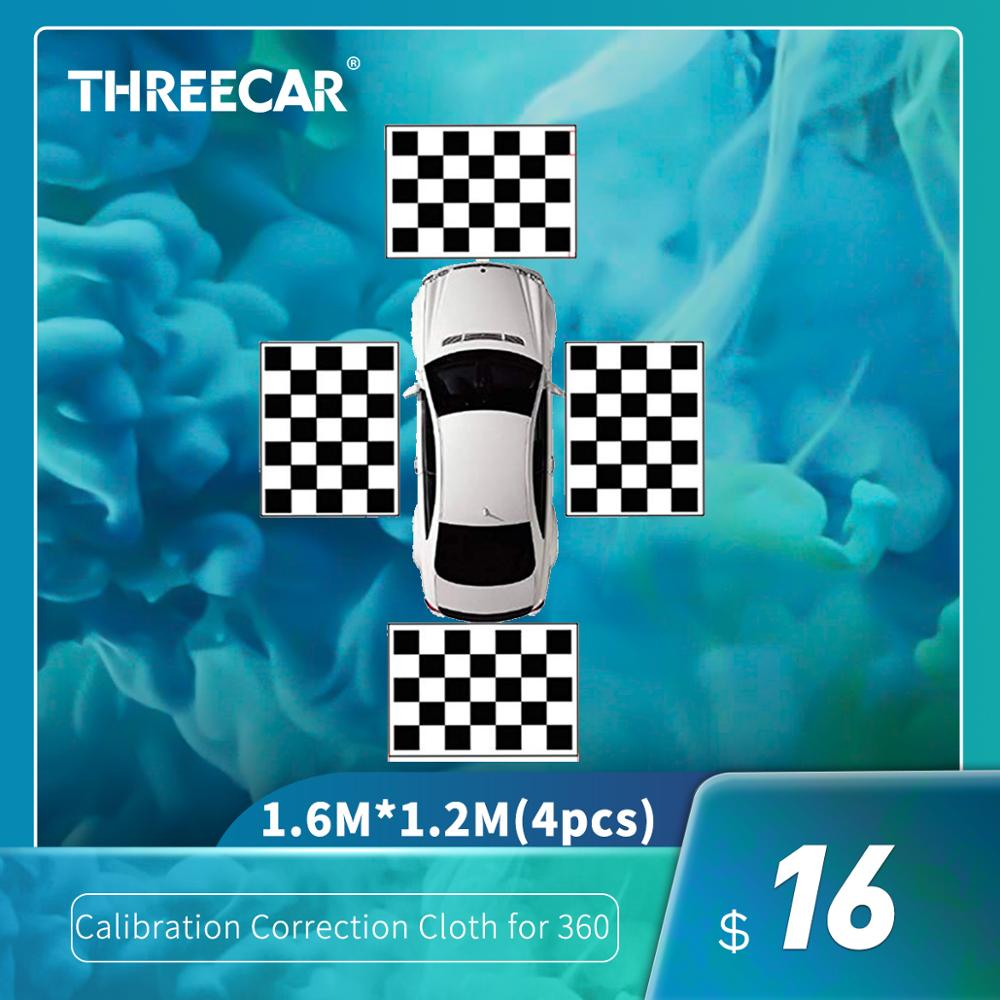 Fabrics Car Camera Correction Calibration Cloth for 360 Degree Surround Bird View Panoramic DVR System Debugging 4PCS/Pack