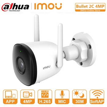 Dahua Imou 4MP QHD IP Camera Wifi Outdoor Human Detection Built-in Mic IP67 Weatherproof Built-in Wi-Fi Hotspot Support ONVIF