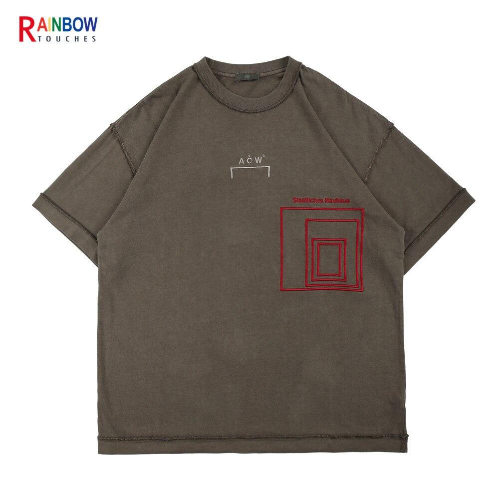 قميص جديد 2021 بتصميم عتيق بأكمام قصيرة مزين بحروف مطبوعة برقبة دائرية واتجاه شارع مرتفع تي شيرت بتصميم فاسق للجنسين