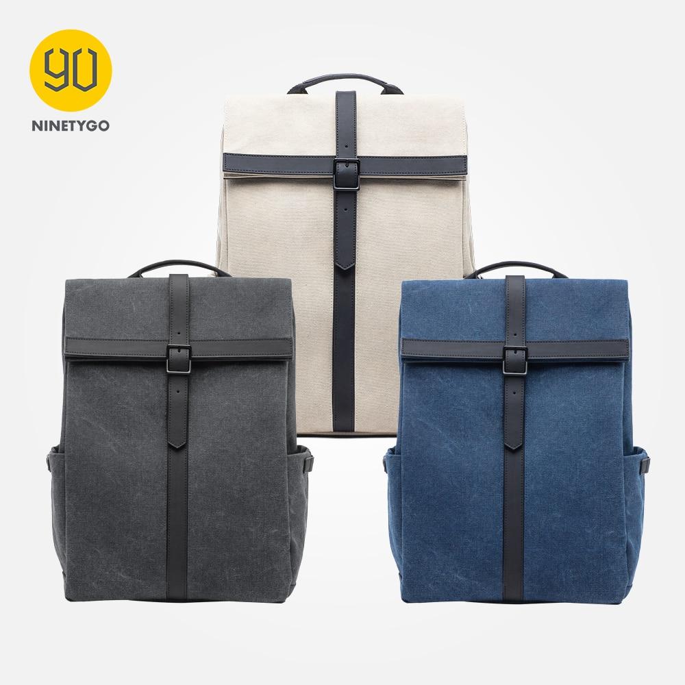 90 NINETYGO Grinder Oxford Backpack Casual 15.6 inch Laptop Bag British Style Bagpack for Men Women School Boys Girls