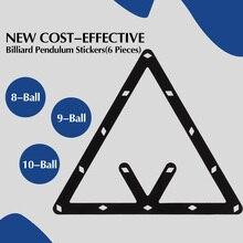 Autocollant de pendule de billard économique Film de lancement accessoire de queue de support magique de billard nanomatériau high-tech 8 910 papier boule