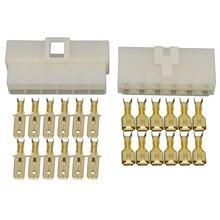 6.3 Serie Alle Nieuwe 12 Pin/Manier DJ7121-6.3 Elektrische Draad Connectoren Plug Mannelijke En Vrouwelijke Auto Verlichting Adapter Connector