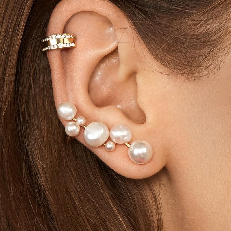 Novedad imitación perla de resina oruga perla pendiente de joyería estilo Chic