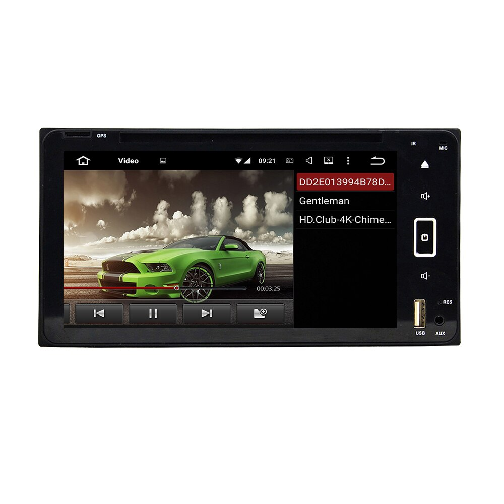 "Radio de coche Android 6,95 2 Din PX6 de 9,0 ""para Toyota RAV4, Corolla, Hilux 2006-2010, reproductor de DVD, reproductor Multimedia estéreo de 6 núcleos DSP"