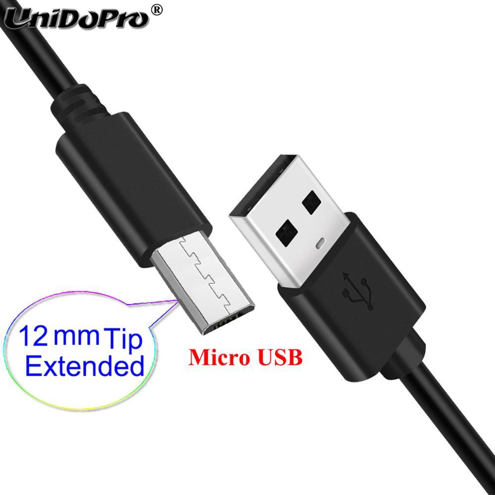 12mm Extra larga punta extendida Micro USB Cable para Geotel G9000... Amigo nota A1... G1 Terminator resistente teléfonos