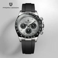 pagani design 2020 new mens watches sport quartz watch men silicone waterproof clock male fashion chronograph relogio masculino