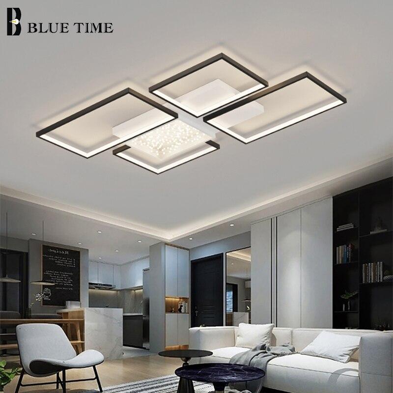 Современные светодиодные потолочные лампы AC 110V 220V потолочные лампы для гостиной, спальни, кухни, декоративные люстры, домашние светильники
