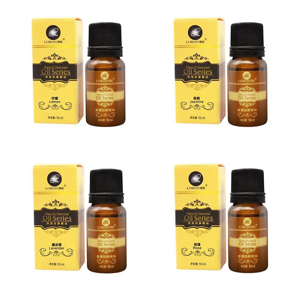 100% Rose SPA Essential Oils 10ML Diffuser Massage Massage Lavender Oil Smell Lemon jasmine G0H5