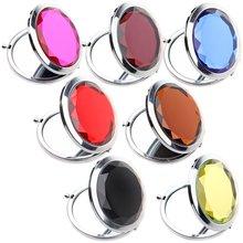 Schönheit Kristall Make-Up Spiegel 2x Vergrößerungs Spiegel Tragbare Runde Gefaltet Kompakte Spiegel Tasche Spiegel, Der up Spiegel