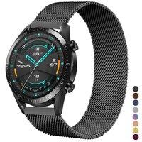 Браслет Huawei watch GT 2-2e-Pro из нержавеющей стали, магнитный ремешок для Samsung Galaxy watch 3/46 мм/42 мм/Active 2, 20 мм/22 мм