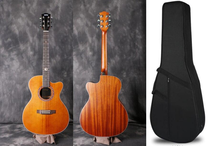 "Finlay 40""Acoustic Guitar,Solid Spruce Top/Mahogany body,guitars china,cutaway guitar,FX-314CB,Blown color"