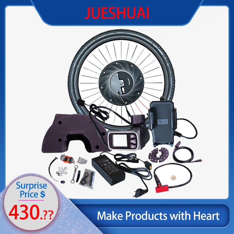 iMotor Electric Bicycle Conversion Kit With Battery Hub Motor Brushless Gear Wheel Bicycle Ebike MTB Kit Bicicleta Eletrica